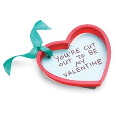 Fun valentine idea for someone special. Use a cookie cutter to send your message.