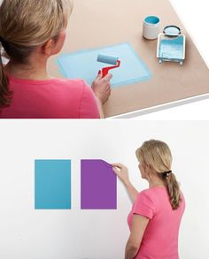 This is a great way to be confident you're choosing the right paint color for your room. SureSwatch is a removable, paintable clear film that accurately depicts your paint color and sheen as it will appear on your existing wall. It can even show you how a primer and multiple coats of paint will look, so you can compare.