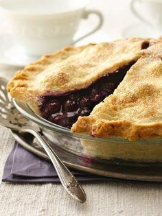 Classic Blueberry Pie. My kids are begging for a blueberry pie.