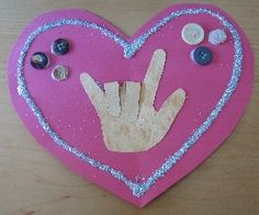 valentine crafts, craft kids, american sign language, valentine day crafts, valentin craft