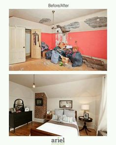 Rehab addict - Case Ave bedroom. Before/ after by Ariel Photography