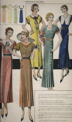 1930s fashions | 1930's fashion plates
