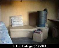 Rocket Stoves.. Experimenters corner.. Answers questioned! - Six inch stove in tiny hut.