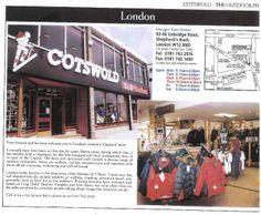 """Sheperd's Bush [closed 2004] - at the time of writing this article the store had been on site some fifteen years. """"[Staff] are walkers, cyclists, mountaineers, and canoeists who above all are courteous, welcoming, and well informed"""""""