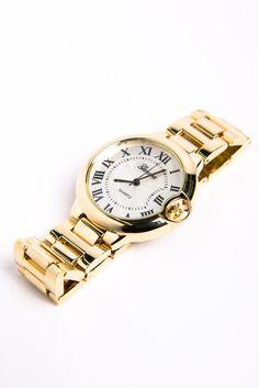 link watch, gold link