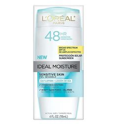 L'Oreal Ideal Moisture for Sensitive Skin is designed to last up to 48 hours.