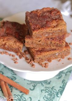 Brown Butter Cinnamon Sugar Cookie Bars - Picky Palate
