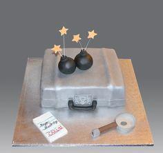 Spy Games Cake by Gellyscakes, via Flickr spi parti, spy games, spi cake, cake decor, spy cakes, spi vbs, game cake
