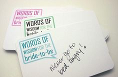 Wedding Wishes Guestbook Alternative Cards - would also be great for bridal shower/engagement party