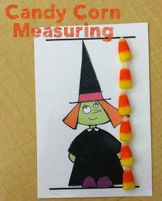 Halloween Math- candy corn measuring