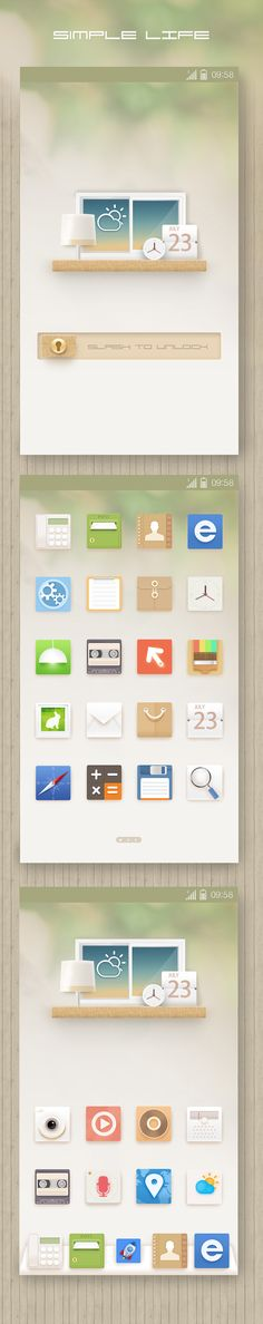 Simple Life Theme GUI by xjan via zcool