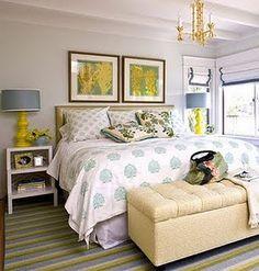 Great master bedroom set up.