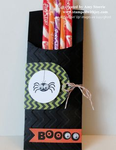 A Pocket of Pixy Stix Halloween Stampin Up