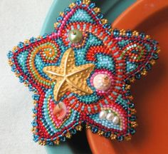 Starfish Treasure Pin by thistledew4u on Etsy