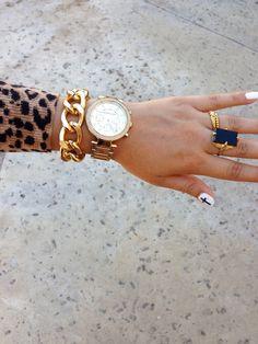 Gold Chunky Bracelet. $10.50, via Etsy.