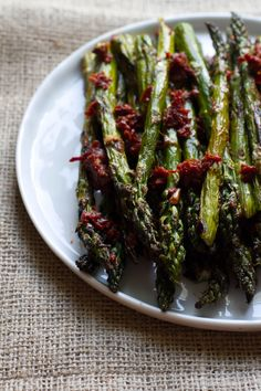 Grilled Asparagus with Sun-Dried TomatoDressing