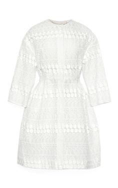 Nylon Long Sleeve Brocade Coat by Giambattista Valli for Preorder on Moda Operandi
