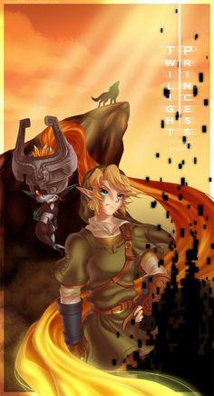 Zelda Twilight Princess: Link and Midna