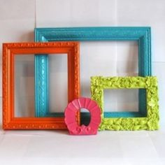 fancy up old frames that don't go with decor