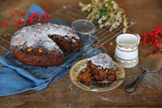 Honey Sweetened Christmas Cake with Blueberries, Apricots, and Figs