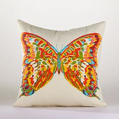 Butterfly Toss Pillow at Cost Plus World Market
