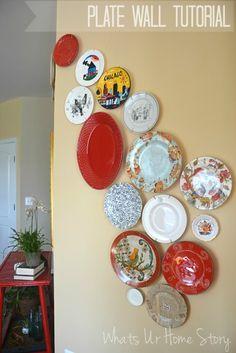 DIY Plate Wall, Modern Plate wall, plate wall tutorial