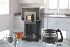 Whether you're serving coffee or tea for a large dinner party or an intimate weekend brunch, the Capresso Coffee à la Carte takes the stress out of preparing hot beverages. #Coffee #Tea #Entertaining #Holidays @Capresso