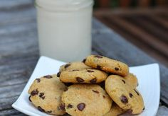 Cookies made with raw almond meal and coconut oil - no sugar (and no flour) and so good! I made them tonight when I was craving a treat because - no, paleo eaters, meat & vegetables don't count as dessert!     Fast Paleo » The Best Paleo Chocolate Chip Cookies - Paleo Recipe Sharing Site