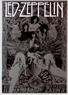Led Zeppelin Hippie art poster.