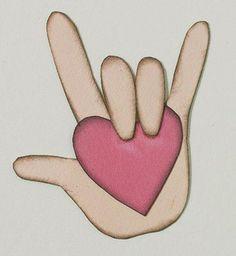 I Love You Sign Language Clip Art   Love You Sign Language Heart