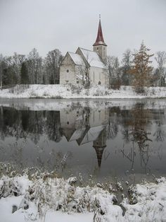 Suure-Jaani Church in Winter, Estonia