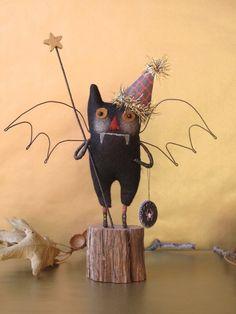 Cute primitive bat.