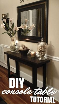 How to make your own console table - beautiful!