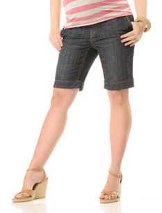 cuffed maternity bermuda shorts