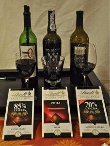 Chocolate and wine pairing.