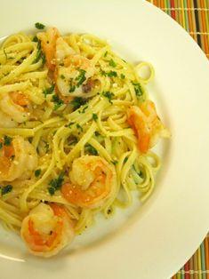 Linguini with Shrimp and Lemon Oil