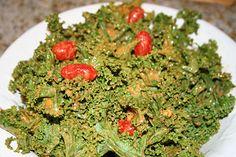 Kale Salad wih Peanut Dressing ~vegan, gluten-free, sugar-free