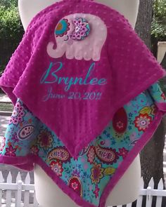 I want this elephant blanket - but with my name, of course.