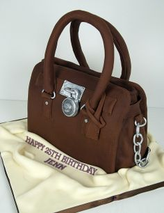 Michael Kors Cake!!!  I know what cake I want for my birthday!!!!!    @Jaime Lyn Knox  Look at this amazing cake!