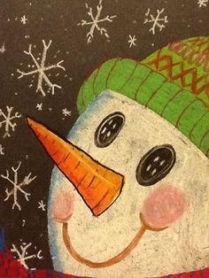 Winter art ideas on pinterest winter trees polar bears and snowman