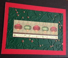 Christmas card using sizzle holly embossing folder