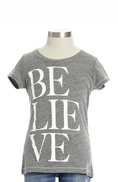 "Peek ""believe"" t-shirt as seen on our gift guide cover! http://rstyle.me/n/dhp2cmt7w"