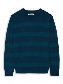 Blue Stripe Crew Neck Sweater