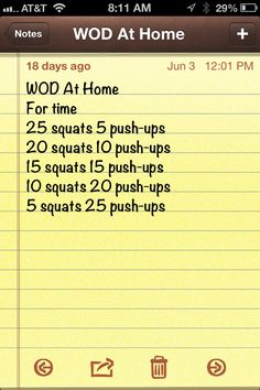 #WOD at Home #crossfit