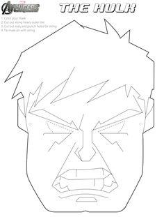 Avengers party on pinterest halloween masks avenger for Avengers mask template