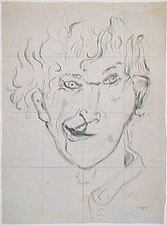 Marc Chagall, Autoportrait à la grimace, 1917. Paris, Centre Pompidou