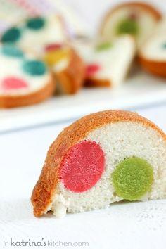Surprise Inside Dotty Cake