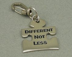 Different Not Less Autism Awareness Keychain