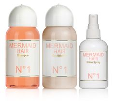 mermaid hair N° 1 shampoo, conditioner & shine spray - this brand is my favorite & makes my hair perfect!