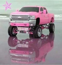 My truck ;) love me a Chevy! Especially a jacked up one that is PINK!!!!! ride, dream truck, trucks, pink truck, chevi truck, pink chevi, dream car, countri, thing